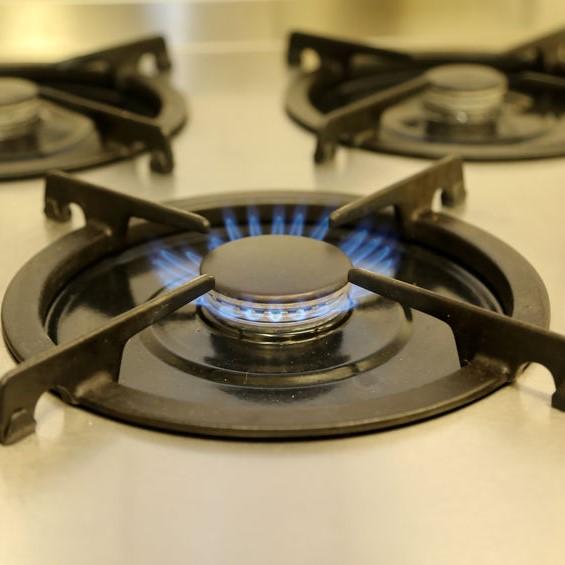 gas burner on stove