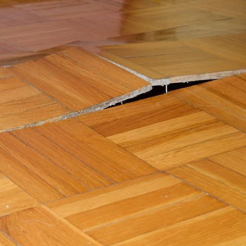 A Picture of Damage to a Hardwood Floor.